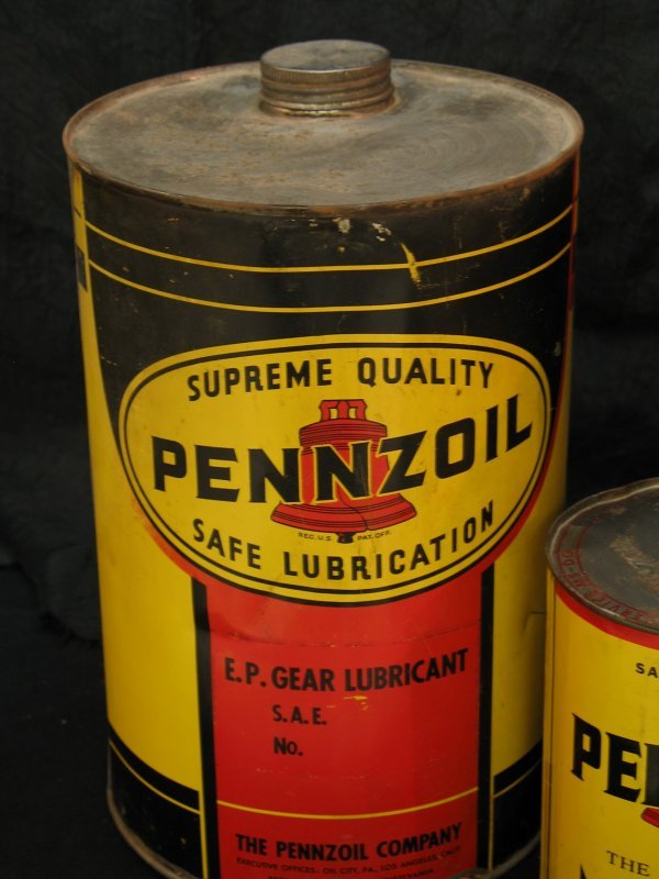 755: VINTAGE PENNZOIL MOTOR OIL CAN PRODUCTS - 6