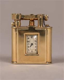 Dunhill 9K Gold Lighter & Watch