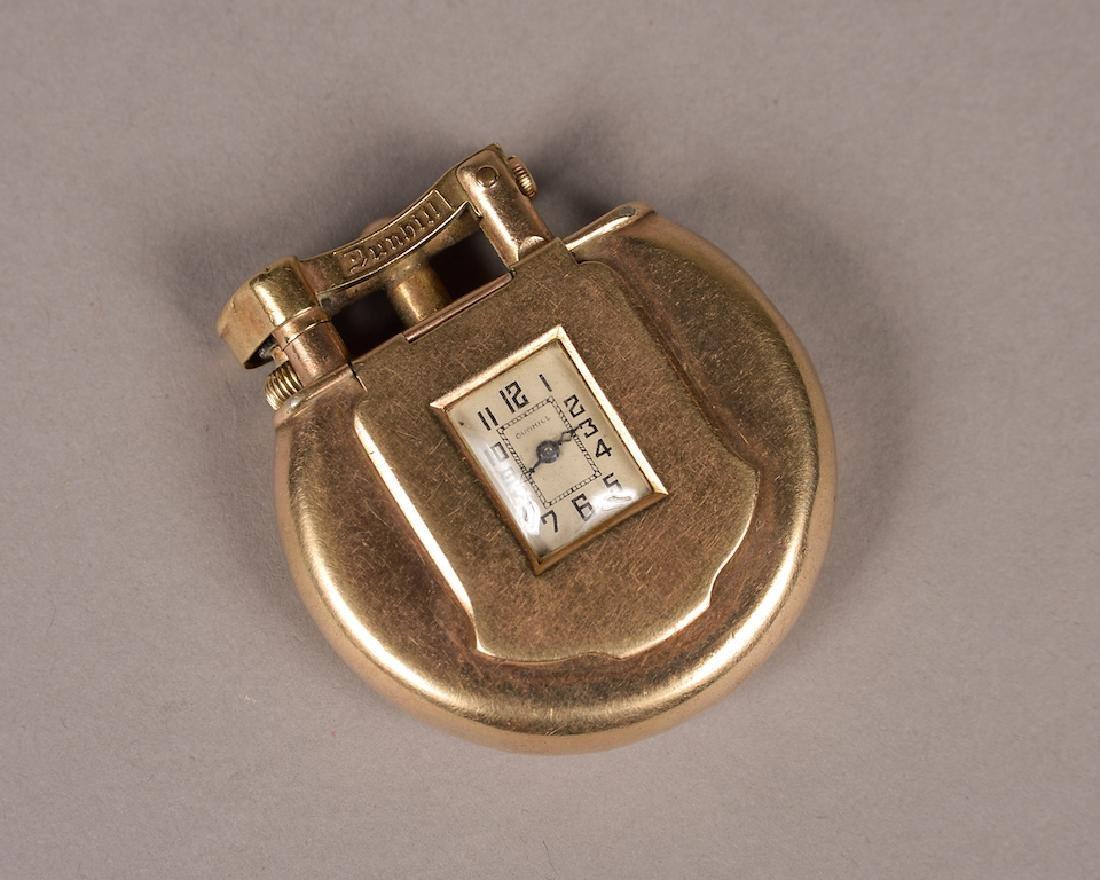 Rare Dunhill 9K Gold Lighter & Watch