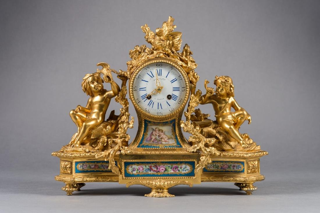 French 19th Century French Ormolu & Sevres