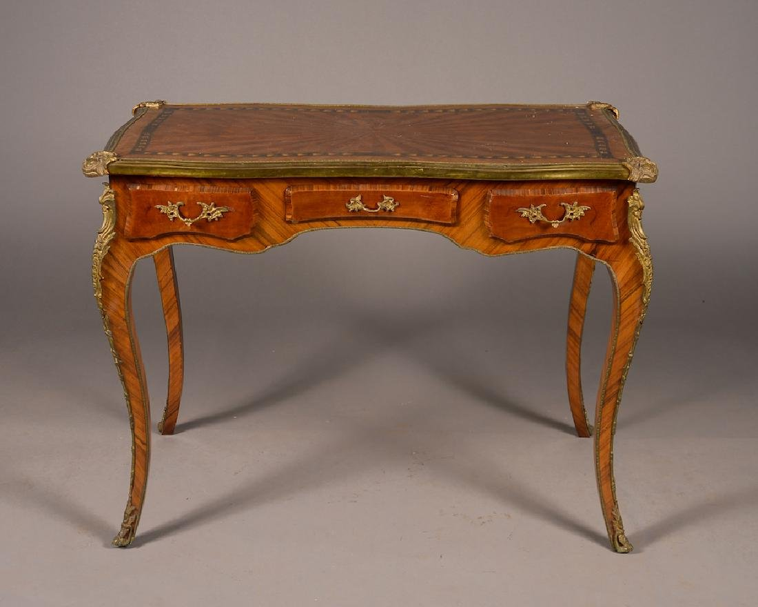 French Louis XV Style Gilt Bronze Mounted Ladies Desk