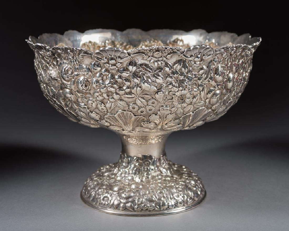 American Sterling Silver Repousse Bowl