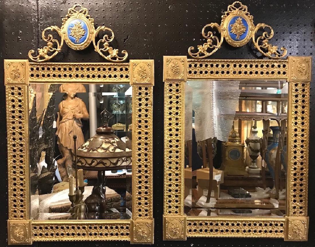 Louis XV Style Gilt Bronze Mirrors