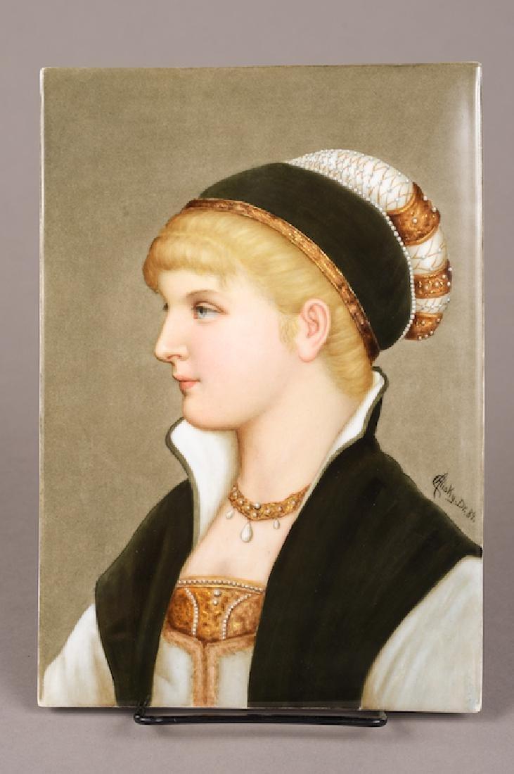 Berlin K.P.M Porcelain Portrait Plaque
