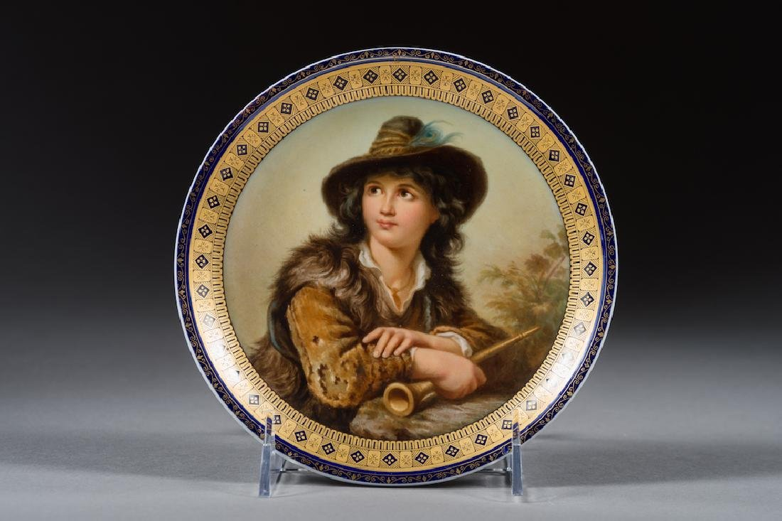 Meissen Porcelain Painted Portrait Plate