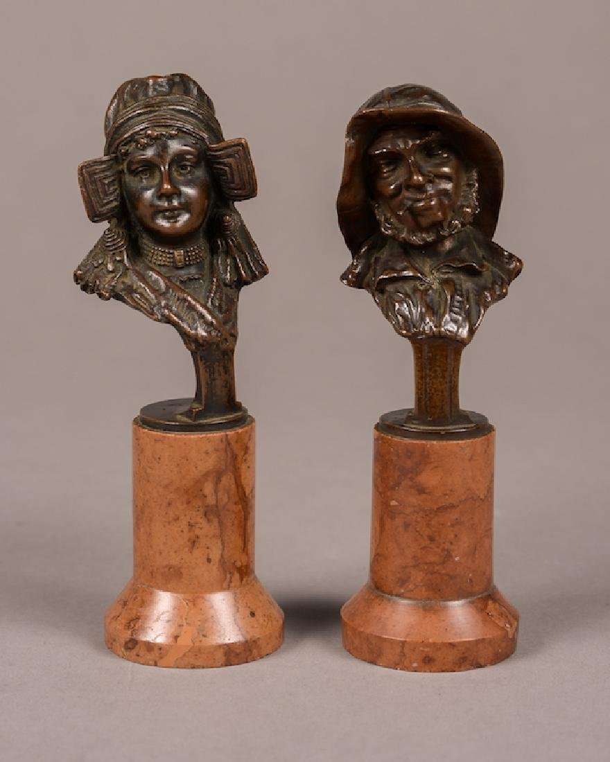 Pair Of Austrian Bronze Busts Kauba
