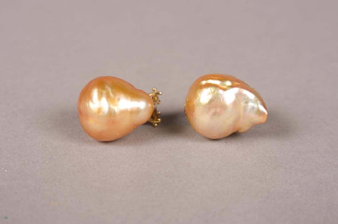 Yvel Baroque South Sea Pearls W/18K Gold Clasps
