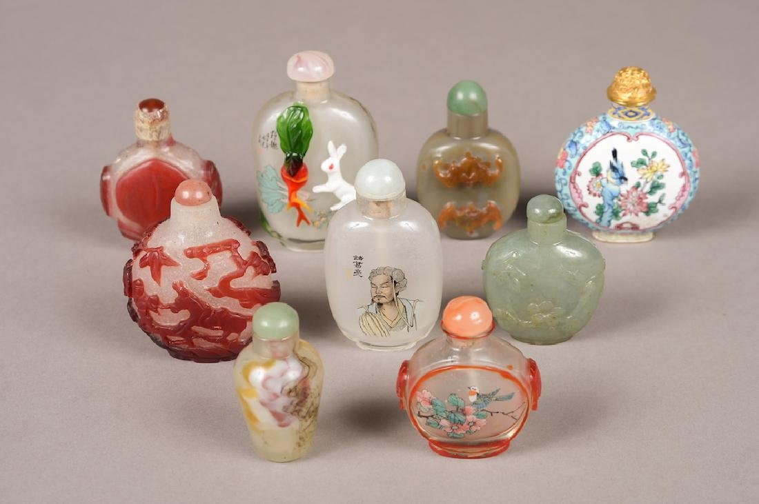 Lot Of Chinese Snuff Bottles