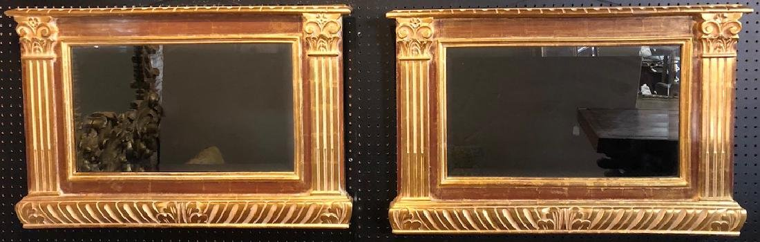 Handsome Pair of Gilt Mirrors