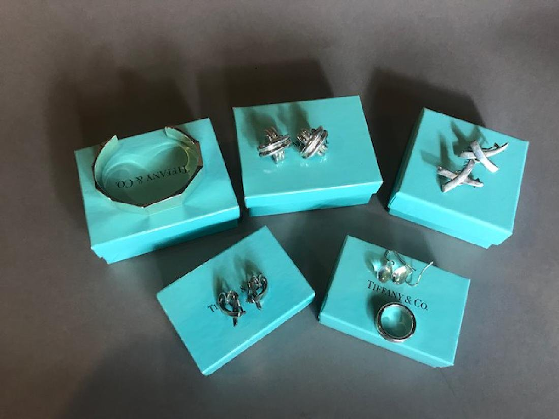 Lot Of 5 Tiffany & Co. Sterling Jewelry