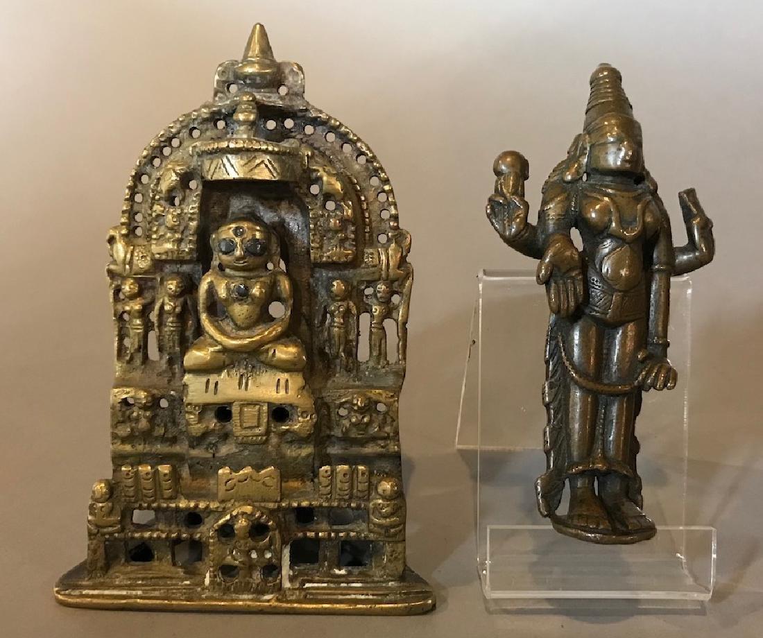 Indian Jain Silver Inlay Bronze Buddha Lot