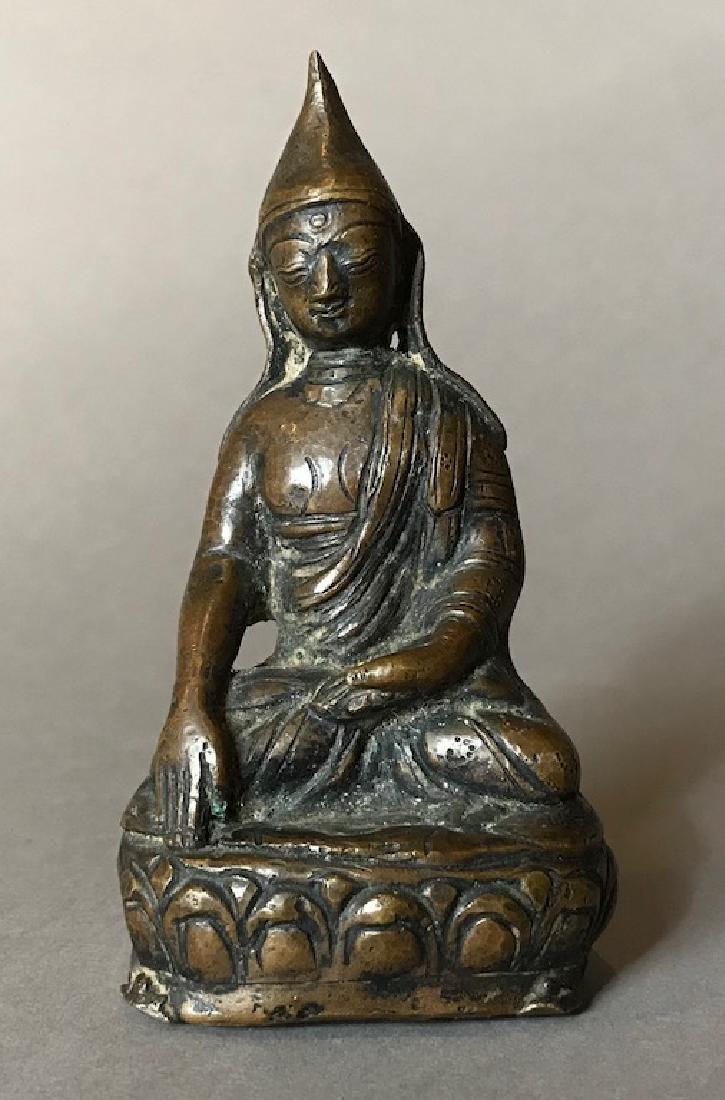 Tibetan 17C. Bronze Lama Buddha