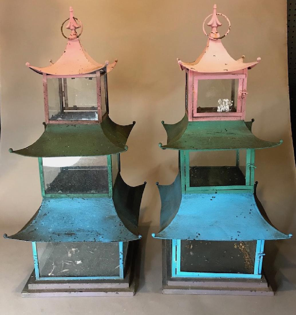Vintage Chinese Painted Lanterns