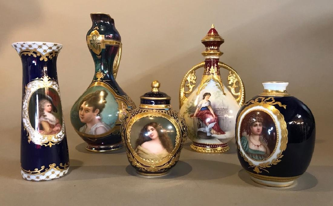 Lot Of Royal Vienna Vases