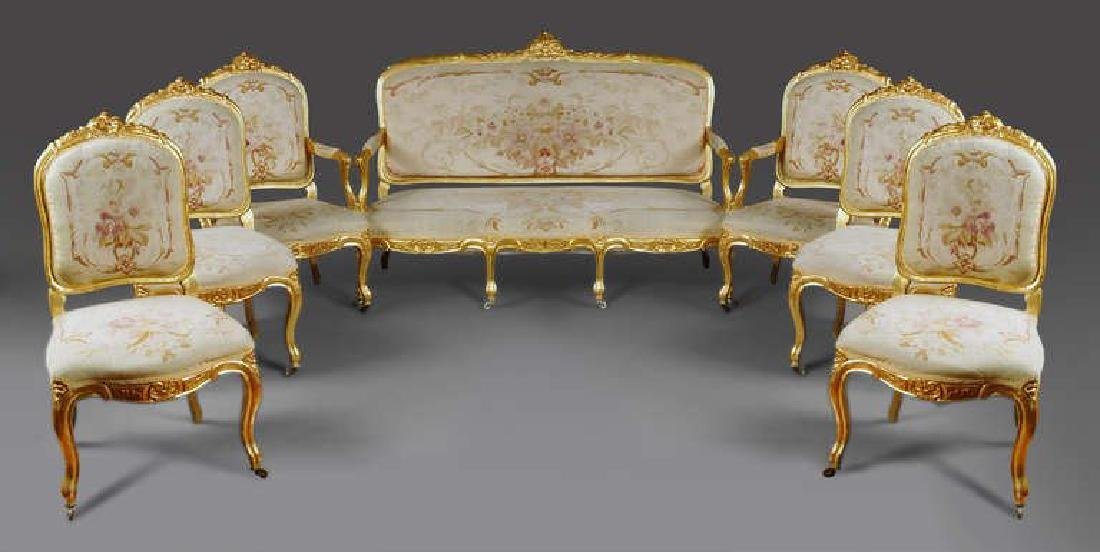 7-Piece French Abusson Tapestry Suite
