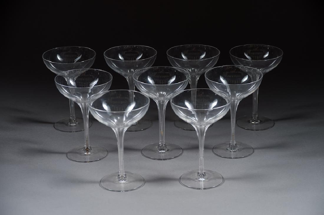 9- Crystal Champagne Glasses
