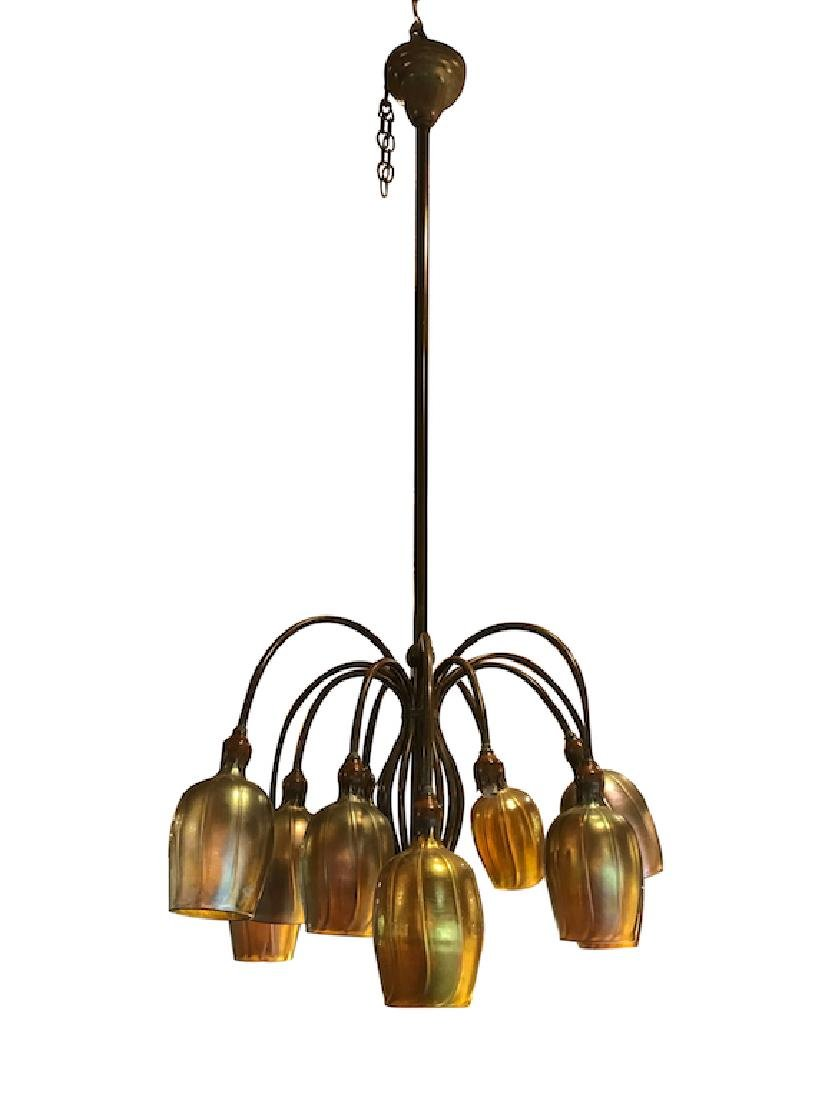 Lundberg Studios 12-Light Bronze Chandelier