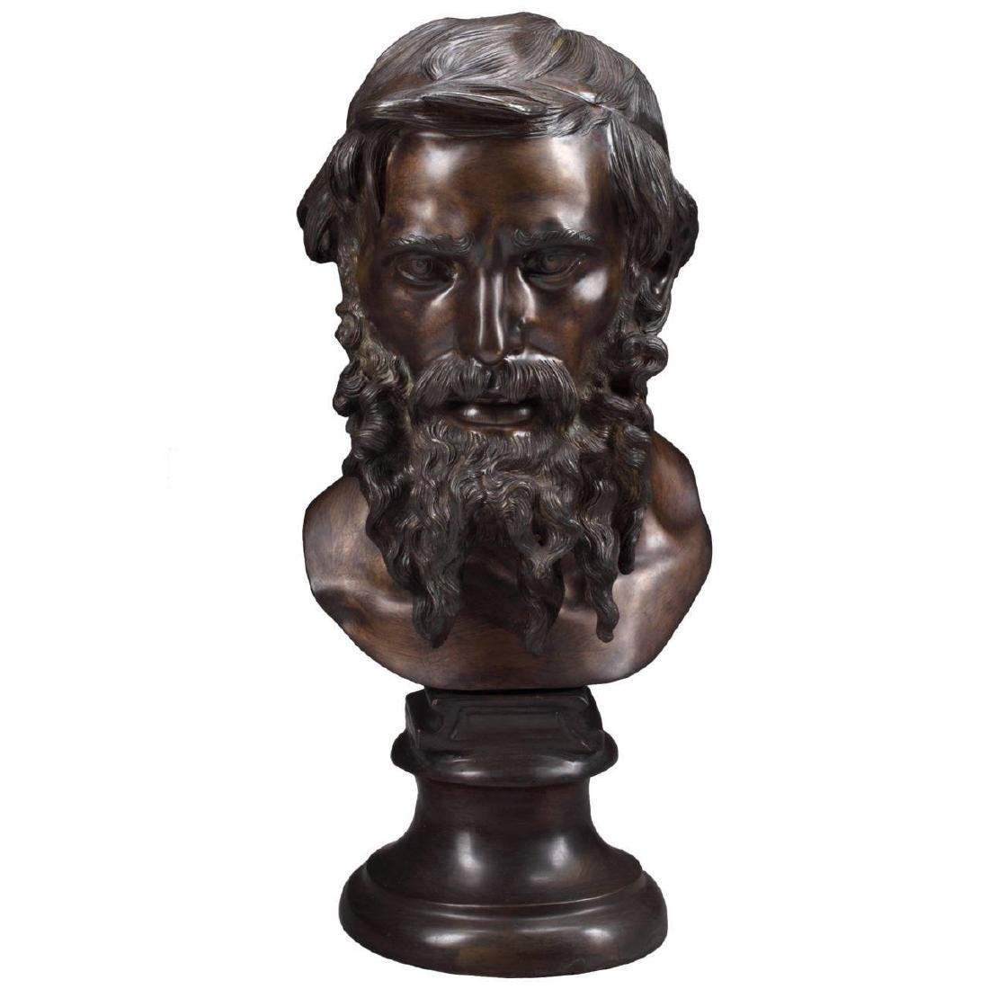Bronze Bust Of An Old Man