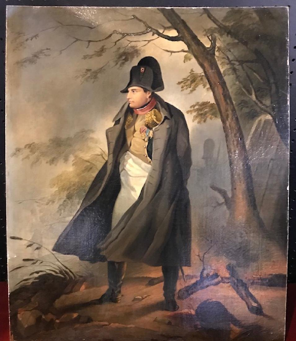 Antique Oil Canvas/Board Of Napoleon