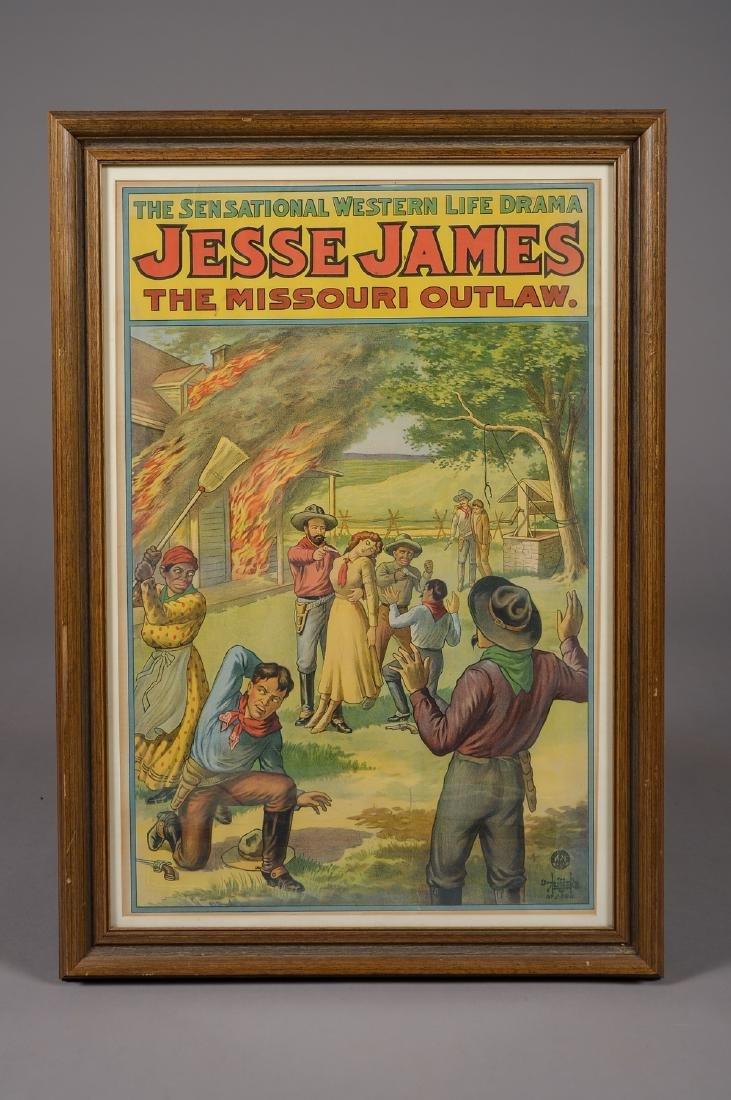 Vintage Jesse James Poster