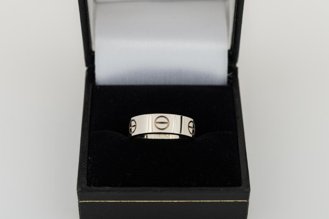 Cartier 18k White Gold Love Band Ring