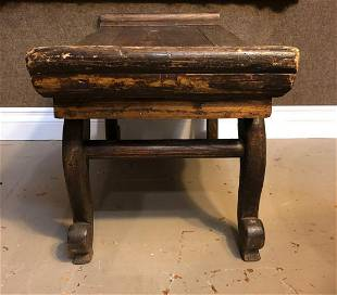 Chinese Wood Carved Bench