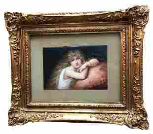 KPM Porcelain Plaque Depicting a Young Beauty Circa
