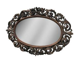 19th Century Rococo Style Carved Walnut Mirror