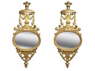 Pair of Carved Gorgian Wall Mirrors Circa 1870