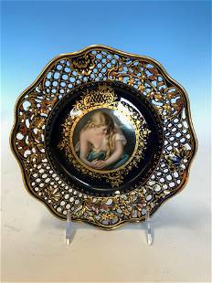 Royal Vienna Riticulated Plate of Mary Magdalene