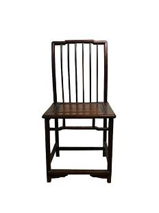 Chinese Export Carved Wood Chair