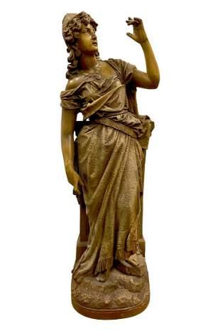 Large German terra cotta figure of an orientalist women