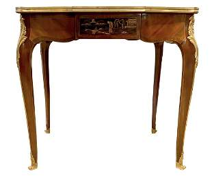 French Louis XV Style Bronze Mounted Chinoiserie Table