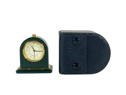 A BULGARI ENAMELED ALARM CLOCK