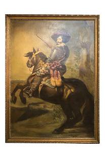 LARGE FRAMED PAINTING FROM THE 3 MUSKATEEERS MOVIE