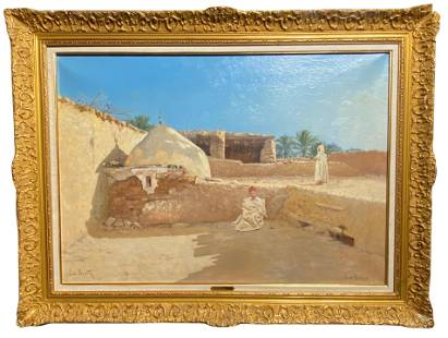 FRENCH ORIENTALIST PAINTING BY EMILE BOIVIN