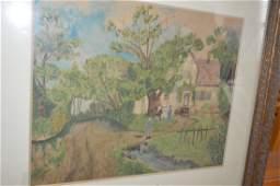 Karl Kratzer (1827-1903) Watercolor