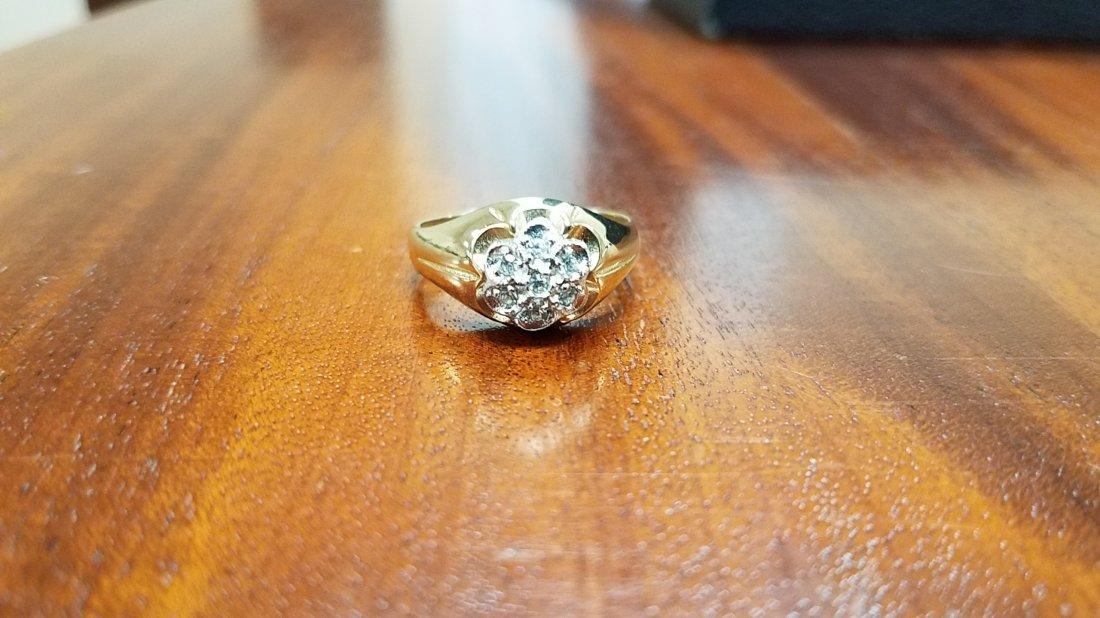 18K Gold & Diamonds Men's Ring