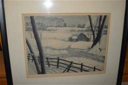 """S.L. Margolies Etching """"Silent Symphony"""" Signed"""