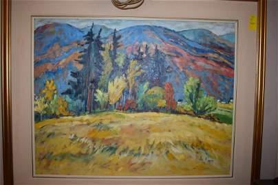 """Le Pan Oil on Canvas """"Derniers Jour D'Automne"""