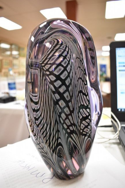 1985 Charles Lotton Organic Art Glass Sculpture