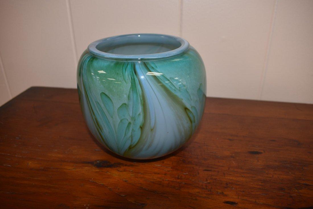 Steven Webber Signed Art Glass Vase