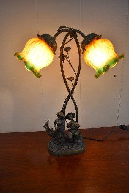 Contemporary Metal Figural Lamp