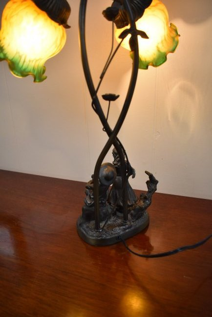Contemporary Metal Figural Lamp - 3
