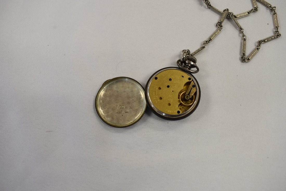 Antique Sterling Silver Pocket Watch - 3