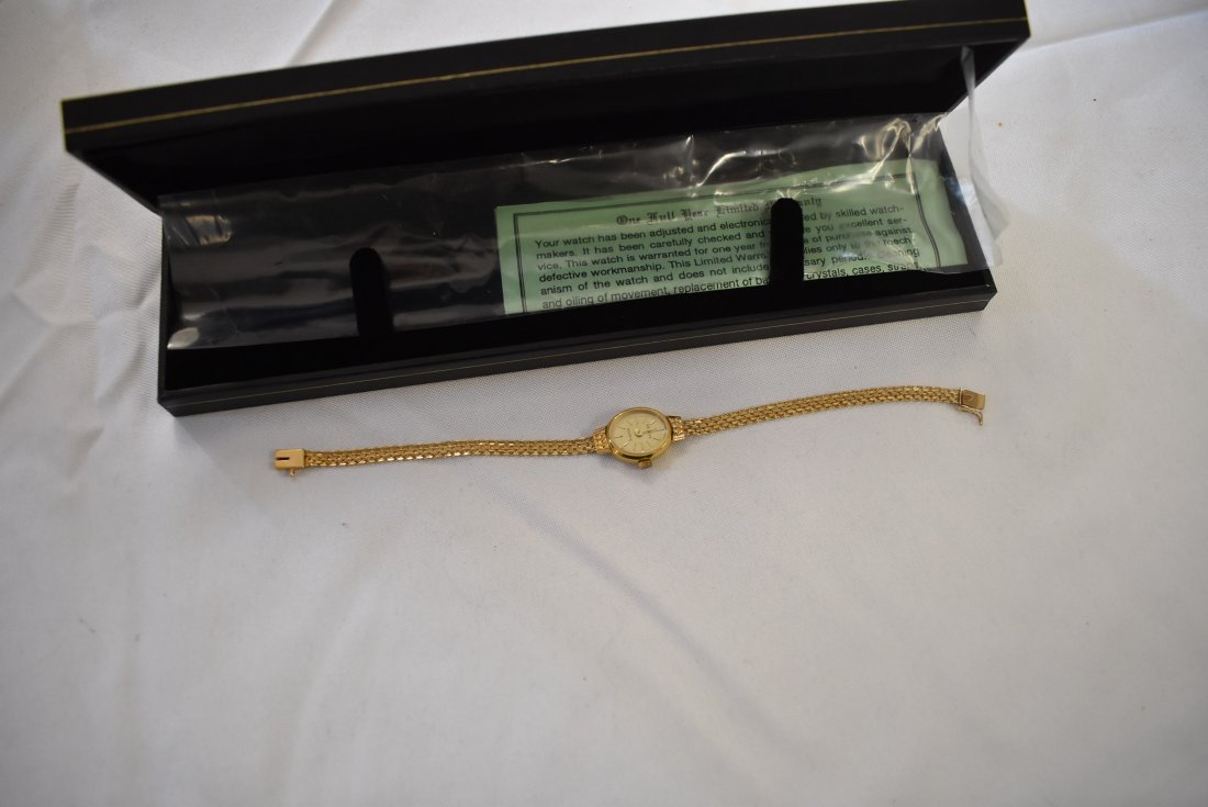 14K Gold Ladies Geneve Watch - 2