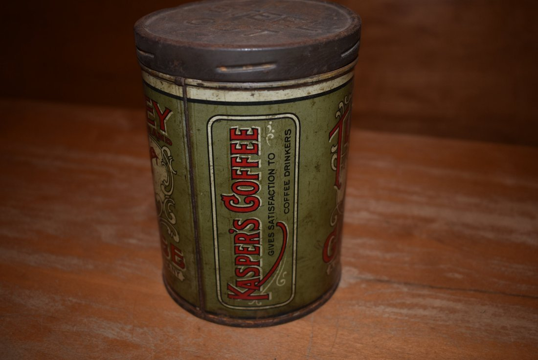 RARE A.J. Kasper Turkey Coffee Tin - 2