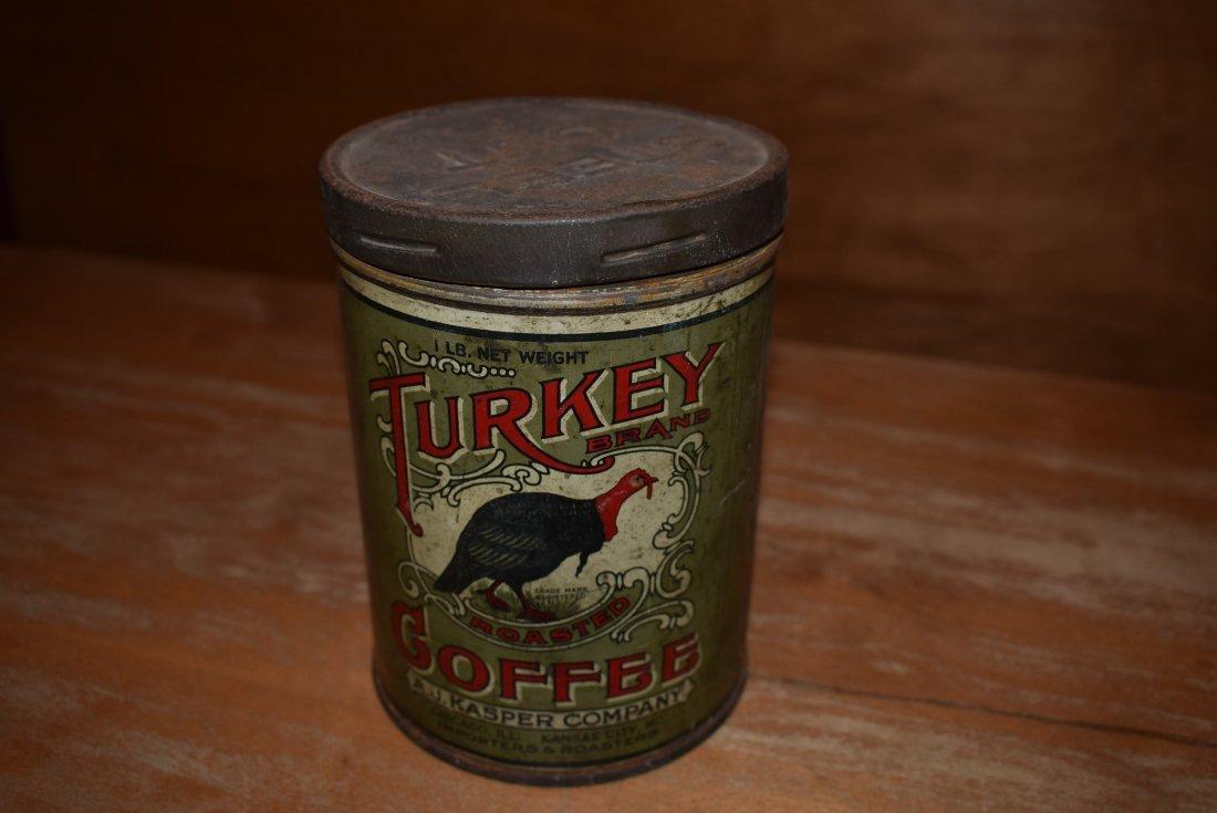 RARE A.J. Kasper Turkey Coffee Tin - 3