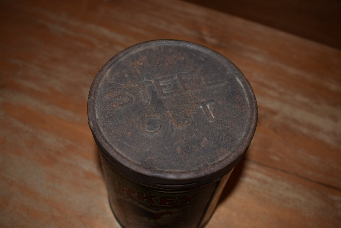 RARE A.J. Kasper Turkey Coffee Tin - 4
