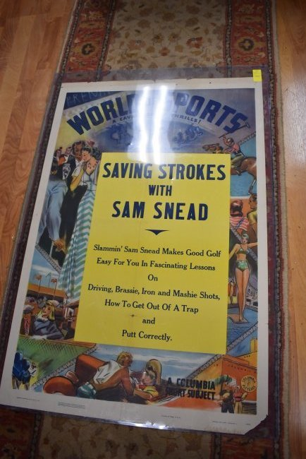 Vintage World of Sports Sam Snead Poster